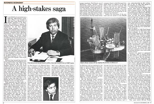 Article Preview: A high-stakes saga, December 1985 | Maclean's