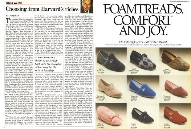 Article Preview: Choosing from Harvard's riches, December 1985 | Maclean's