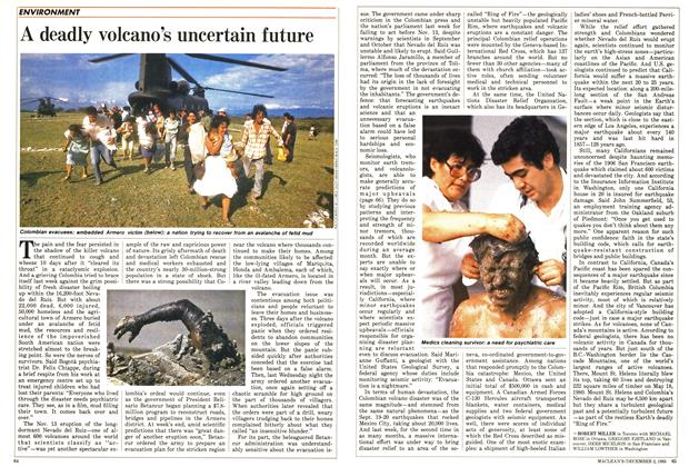 Article Preview: A deadly volcano's uncertain future, December 1985 | Maclean's