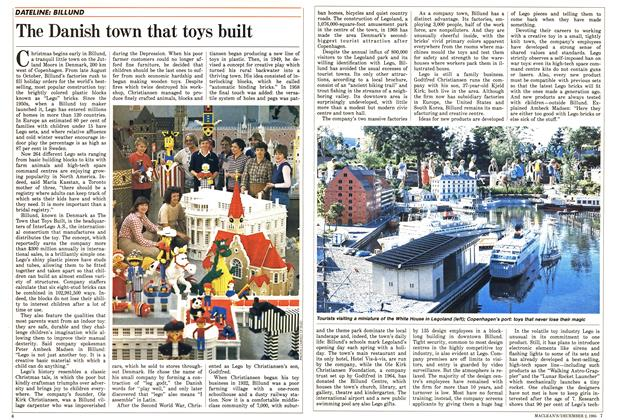 Article Preview: The Danish town that toys built, December 1985 | Maclean's