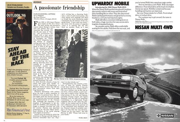 Article Preview: A passionate friendship, December 1985 | Maclean's