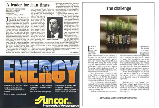 Article Preview: A leader for lean times, December 1985 | Maclean's