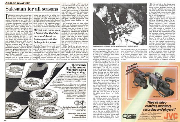 Article Preview: Salesman for all seasons, December 1985 | Maclean's