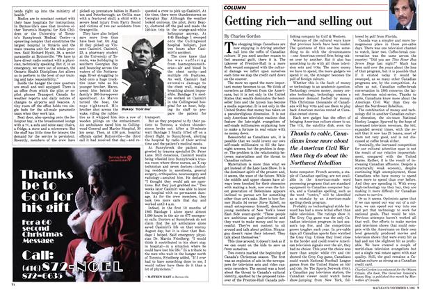 Article Preview: Getting rich—and selling out, December 1985 | Maclean's