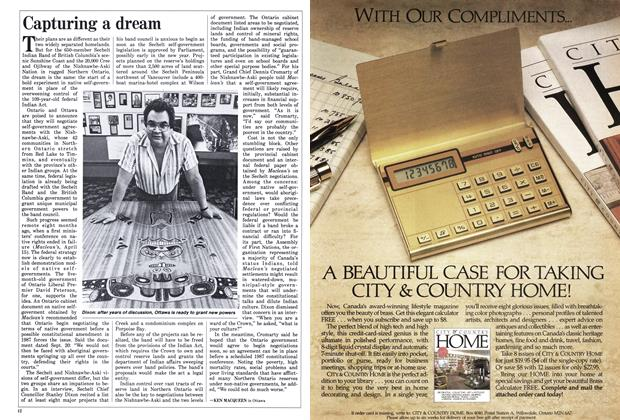 Article Preview: Capturing a dream, December 1985 | Maclean's