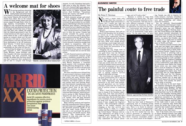Article Preview: A welcome mat for shoes, December 1985 | Maclean's