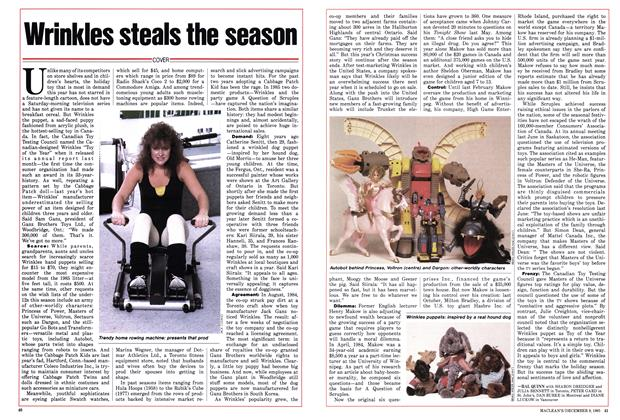 Article Preview: Wrinkles steals the season, December 1985 | Maclean's
