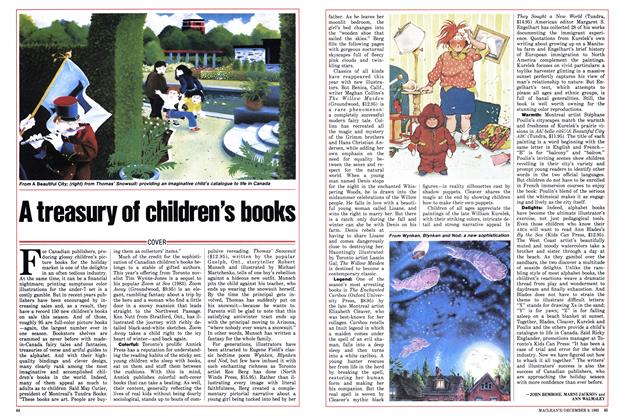 Article Preview: A treasury of children's books, December 1985 | Maclean's