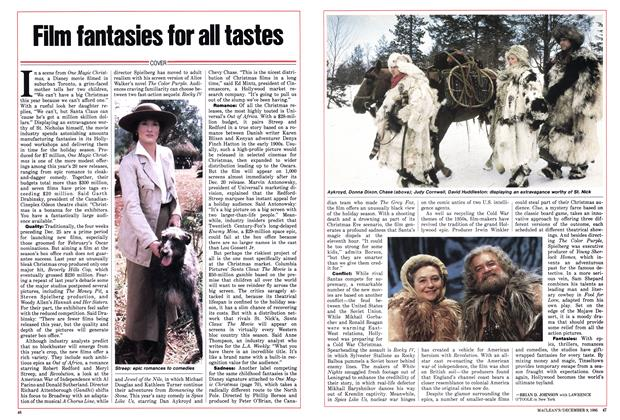 Article Preview: Film fantasies for all tastes, December 1985 | Maclean's