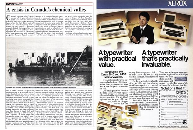 Article Preview: A crisis in Canada's chemical valley, December 1985 | Maclean's