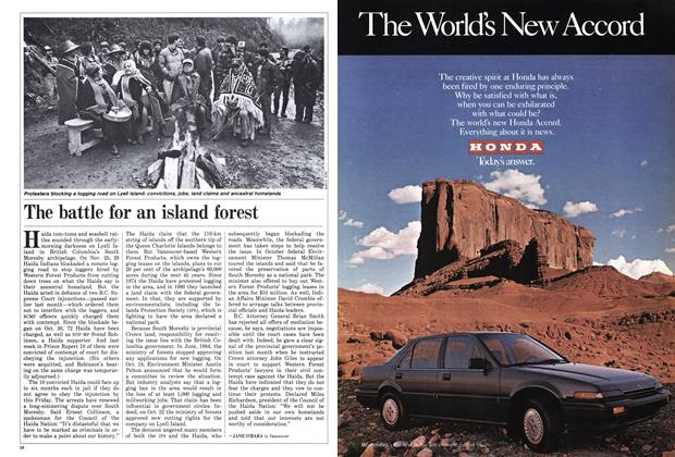 Article Preview: The battle for an island forest, December 1985 | Maclean's
