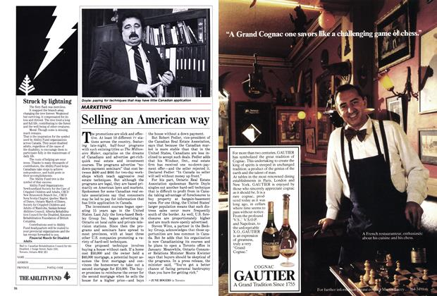 Article Preview: Selling an American way, December 1985 | Maclean's