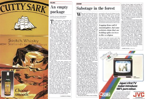 Article Preview: Sabotage in the forest, December 1985 | Maclean's
