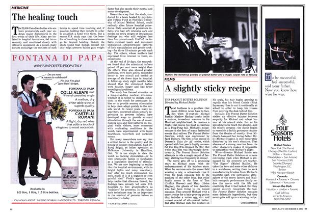 Article Preview: A slightly sticky recipe, December 1985 | Maclean's