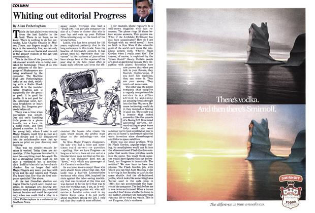 Article Preview: Whiting out editorial Progress, December 1985 | Maclean's