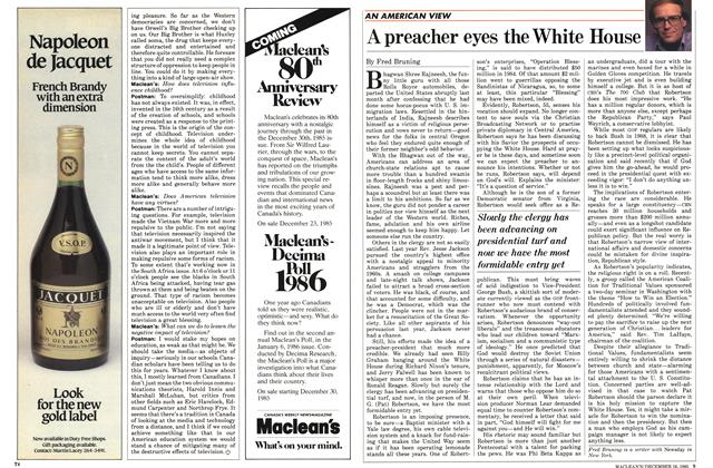 Article Preview: A preacher eyes the White House, December 1985 | Maclean's