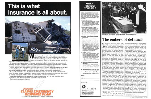 Article Preview: The embers of defiance, December 1985 | Maclean's