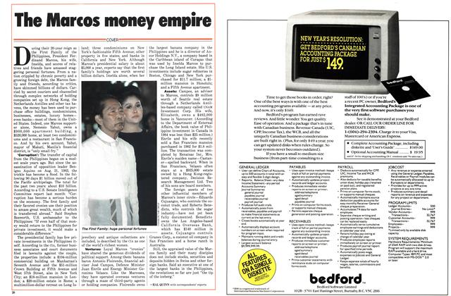 Article Preview: The Marcos money empire, December 1985 | Maclean's