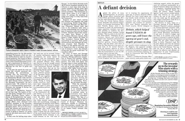 Article Preview: A defiant decision, December 1985 | Maclean's