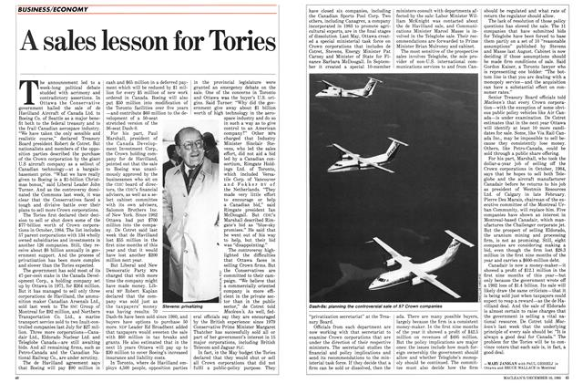 Article Preview: A sales lesson for Tories, December 1985 | Maclean's