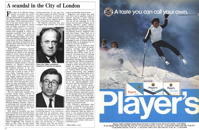 Article Preview: A scandal in the City of London, December 1985 | Maclean's