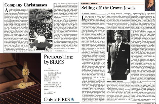 Article Preview: Company Christmases, December 1985 | Maclean's
