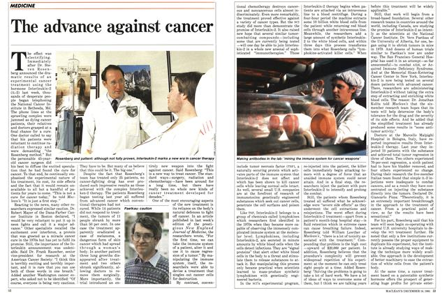 Article Preview: The advance against cancer, December 1985 | Maclean's