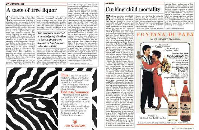 Article Preview: Curbing child mortality, December 1985 | Maclean's