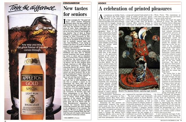 Article Preview: A celebration of printed pleasures, December 1985 | Maclean's