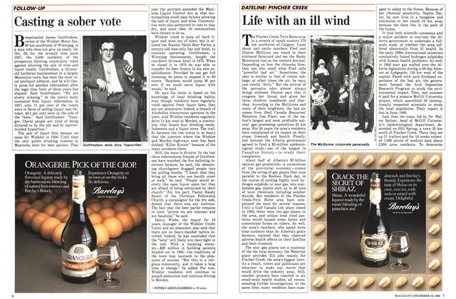 Article Preview: Life with an ill wind, December 1985 | Maclean's