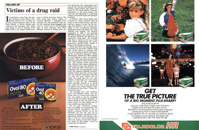 Article Preview: Victims of a drug raid, December 1985 | Maclean's