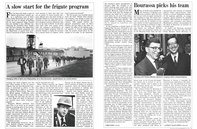 Article Preview: A slow start for the frigate program, December 1985 | Maclean's