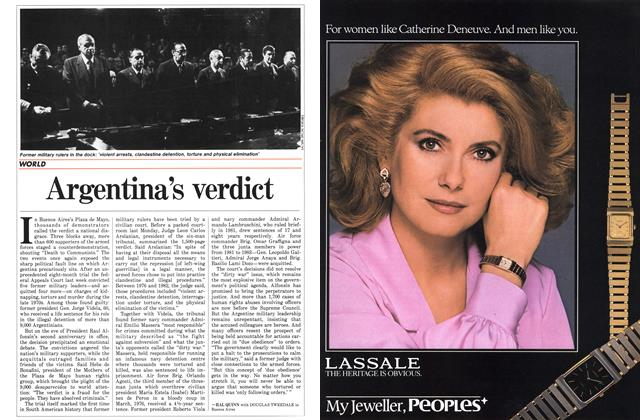 Article Preview: Argentina's verdict, December 1985   Maclean's