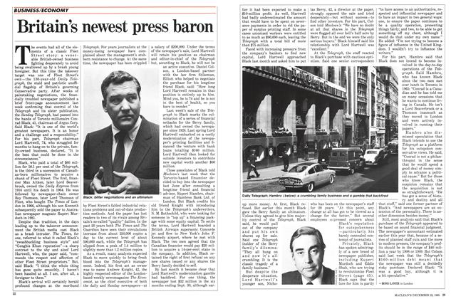 Article Preview: Britain's newest press baron, December 1985 | Maclean's