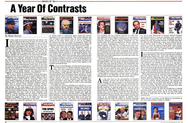 Article Preview: A Year Of Contrasts, December 1985 | Maclean's
