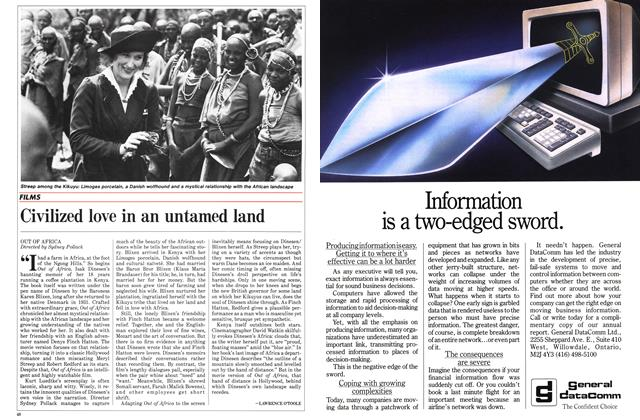 Article Preview: Civilized love in an untamed land, December 1985 | Maclean's