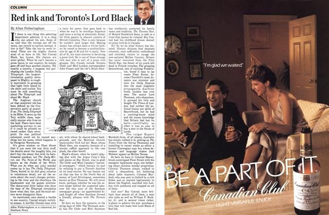 Article Preview: Red ink and Toronto's Lord Black, December 1985 | Maclean's