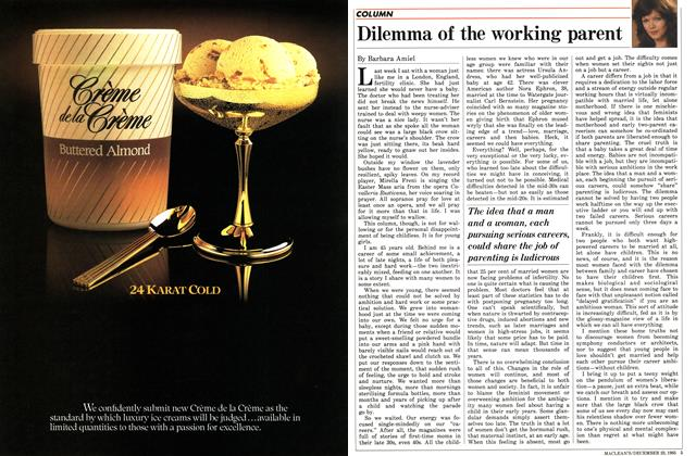 Article Preview: Dilemma of the working parent, December 1985 | Maclean's