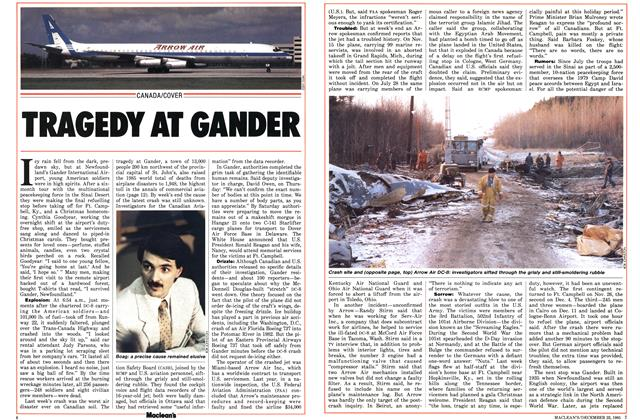 Article Preview: TRAGEDY AT GANDER, December 1985 | Maclean's