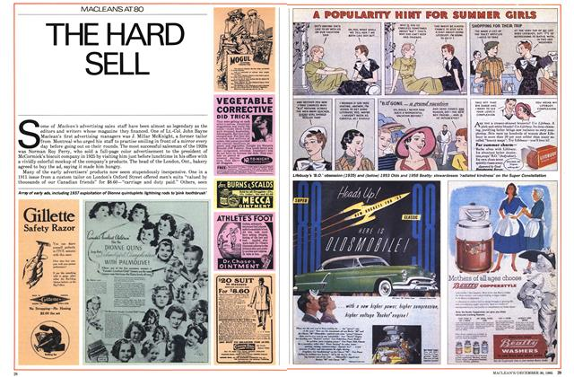 Article Preview: THE HARD SELL, December 1985 | Maclean's