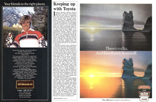 Article Preview: Keeping up with Toyota, December 1985   Maclean's