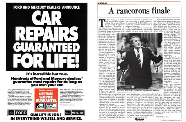 Article Preview: A rancorous finale, December 1985 | Maclean's