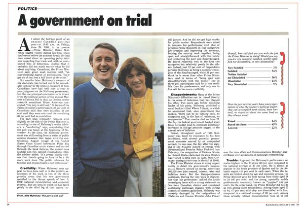Article Preview: A government on trial, January 1986 | Maclean's