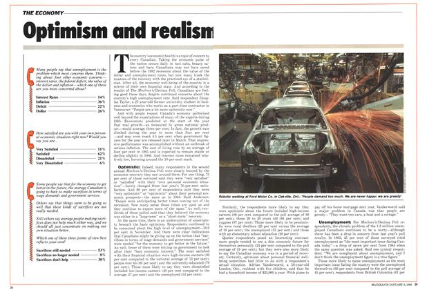 Article Preview: Optimism and realism, January 1986 | Maclean's