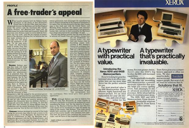Article Preview: A free-trader's appeal, January 1986   Maclean's