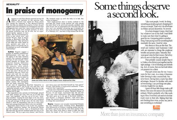 Article Preview: In praise of monogamy, January 1986 | Maclean's
