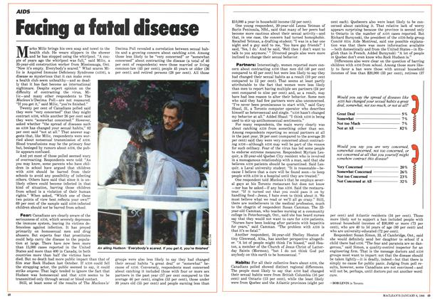 Article Preview: Facing a fatal disease, January 1986 | Maclean's
