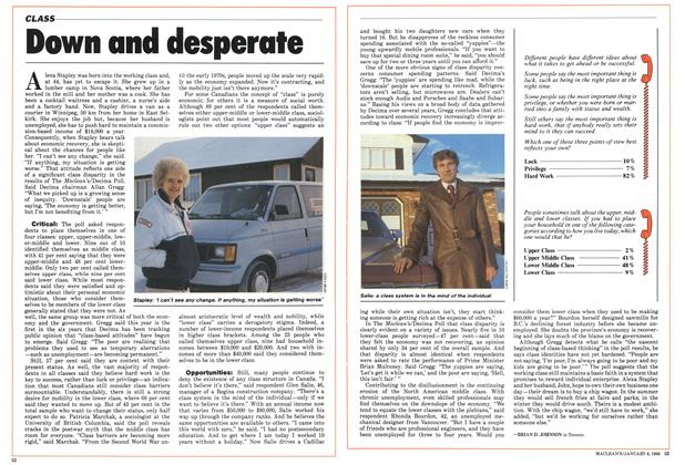 Article Preview: Down and desperate, January 1986 | Maclean's