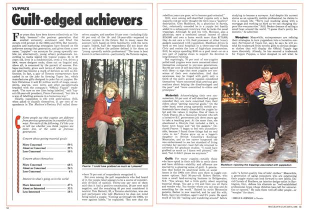 Article Preview: Guilt-edged achievers, January 1986 | Maclean's