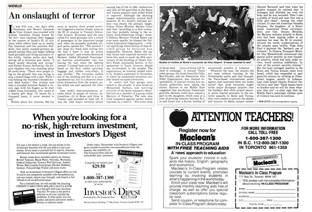 Article Preview: An onslaught of terror, January 1986 | Maclean's